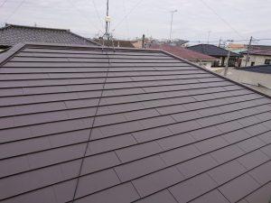金属屋根への葺き替え後