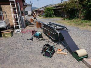 金属屋根の加工