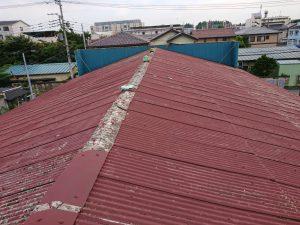 劣化したスレート波板屋根