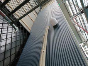 エアコンの配管部分の施工