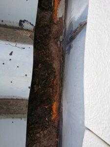 雨漏りの原因となる錆と穴